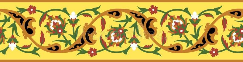 Frontière sans couture deux de Mudaris illustration stock
