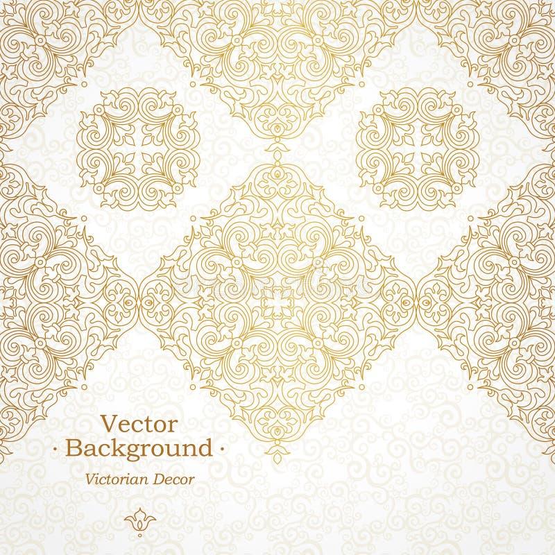 Frontière sans couture fleurie de vecteur dans le style victorien illustration libre de droits