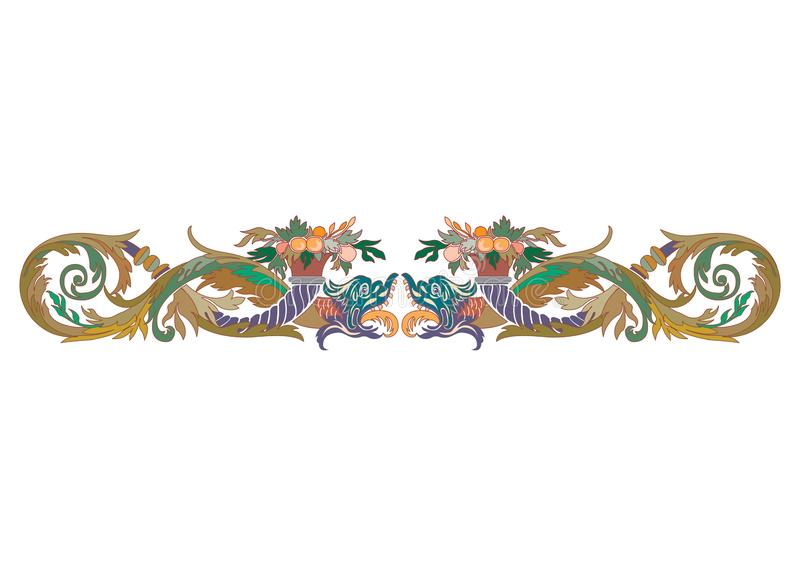 Frontière sans couture florale arabe Conception islamique traditionnelle Élément de décoration de mosquée - Le fichier du vecteur illustration stock