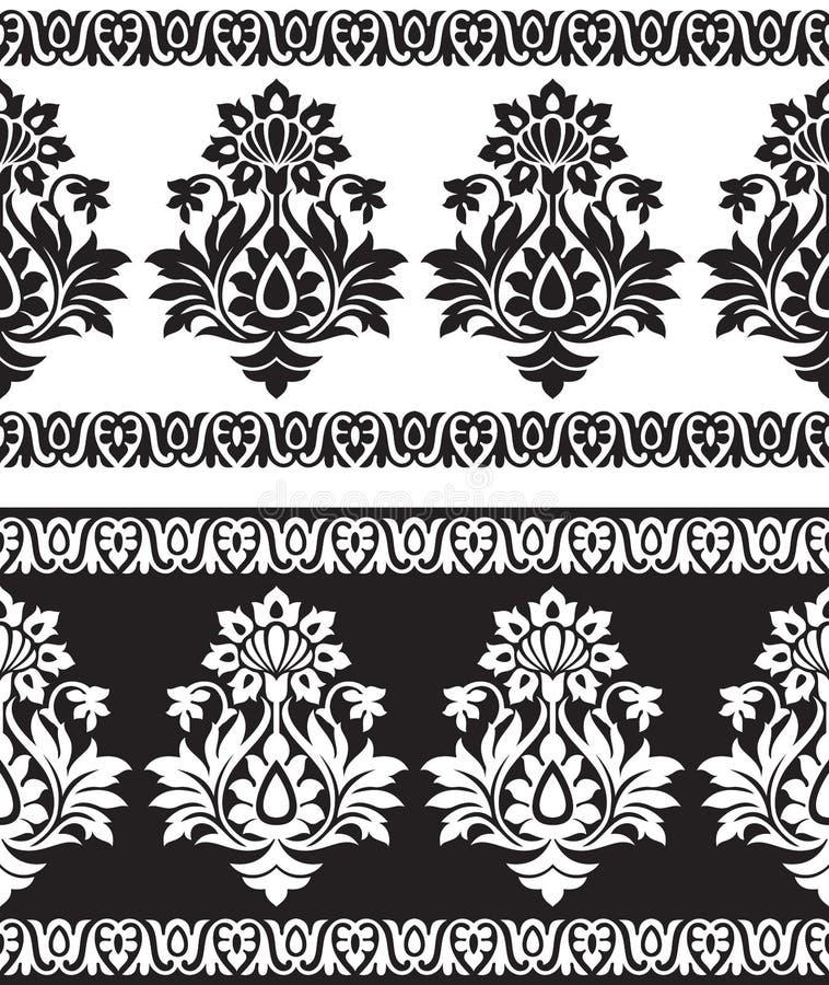 Frontière sans couture pour des tissus de textile illustration de vecteur
