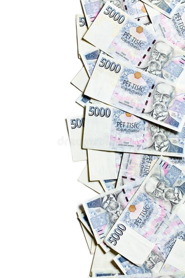 Frontière tchèque d'argent photographie stock
