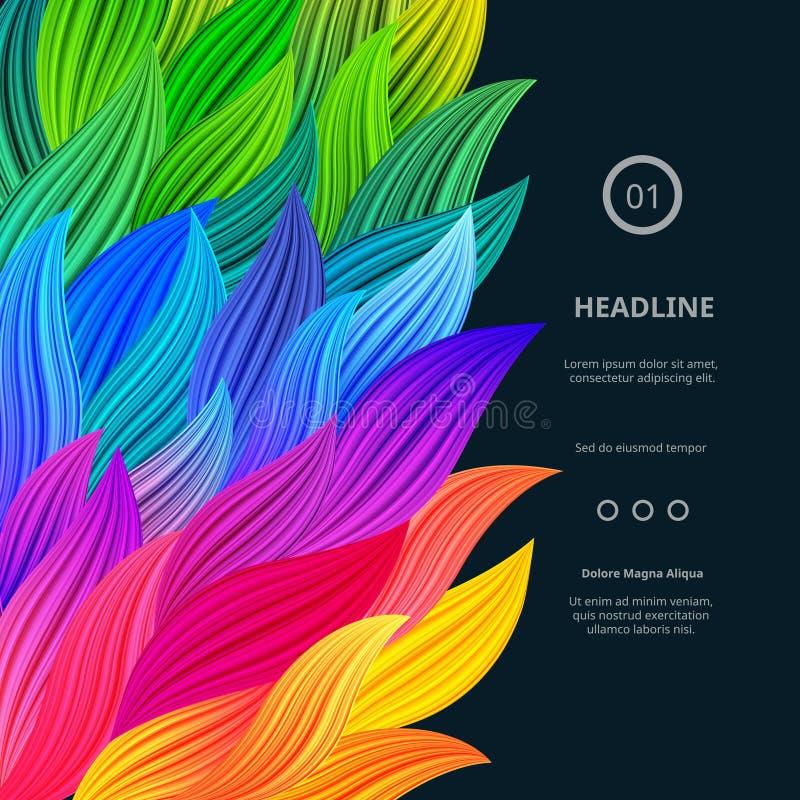 Frontières colorées lumineuses impressionnantes illustration de vecteur