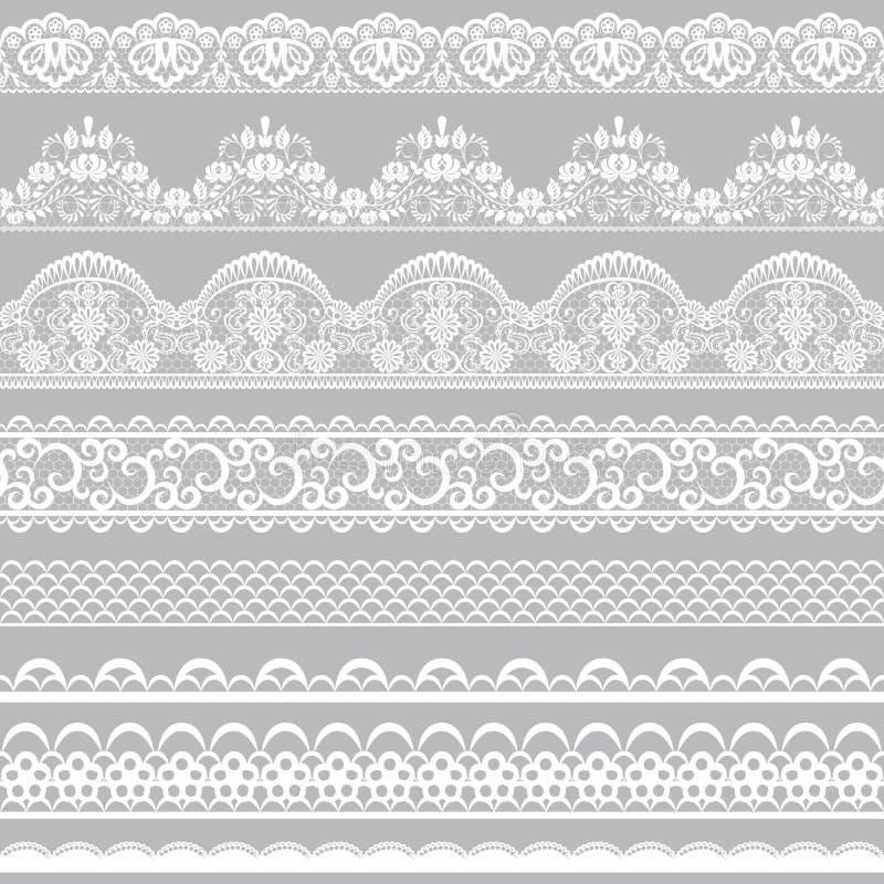 Frontières de dentelle illustration stock