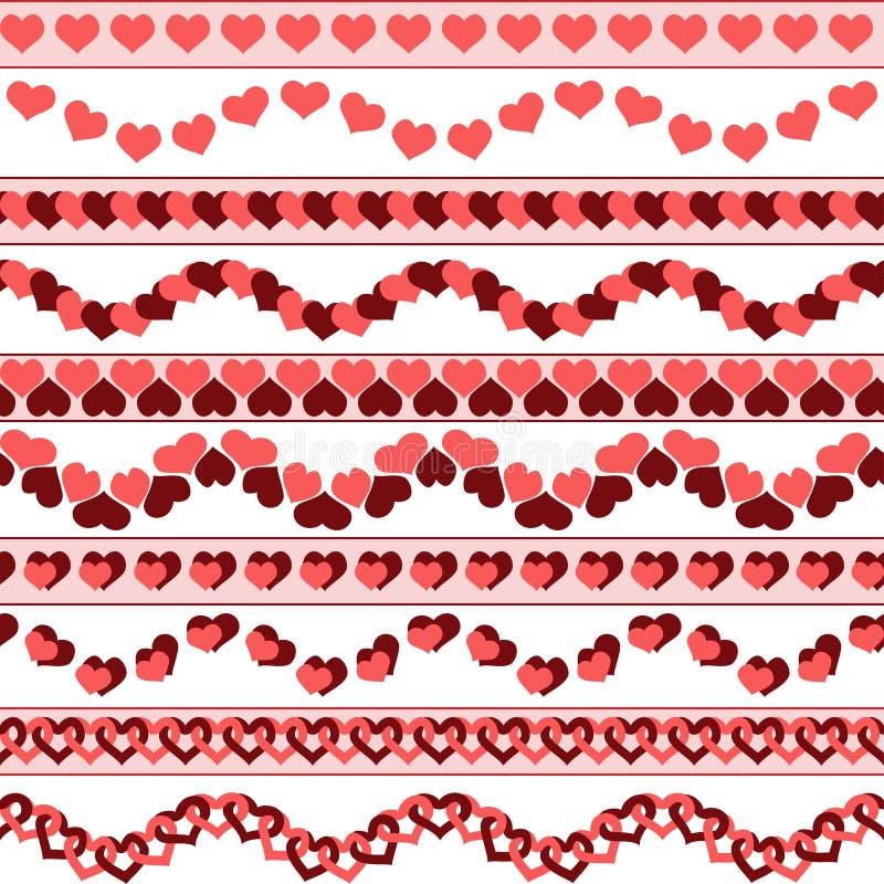 Frontières de jour du ` s de Valentine illustration libre de droits