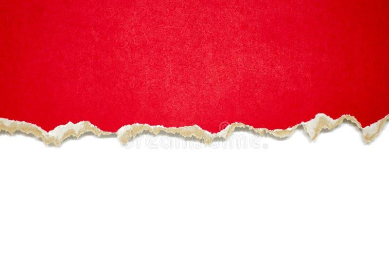 Frontières de papier déchirées sur le blanc photo stock
