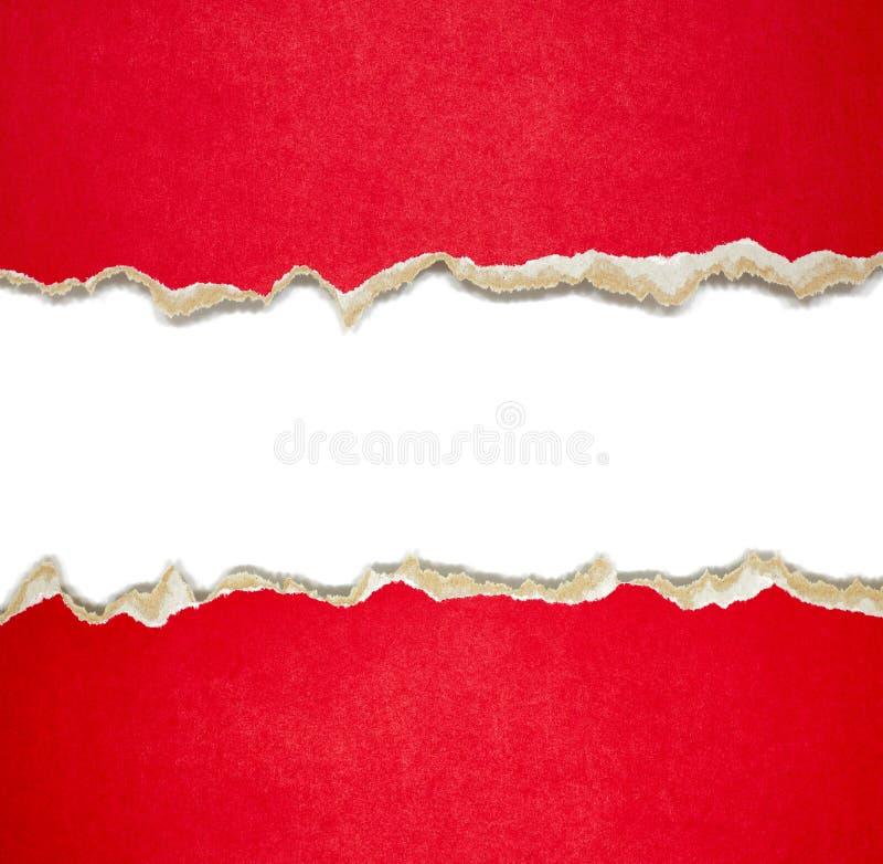 Frontières de papier déchirées sur le blanc photos stock