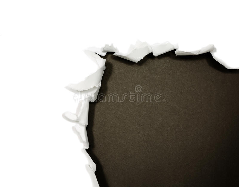 Frontières de papier déchirées sur le blanc photos libres de droits