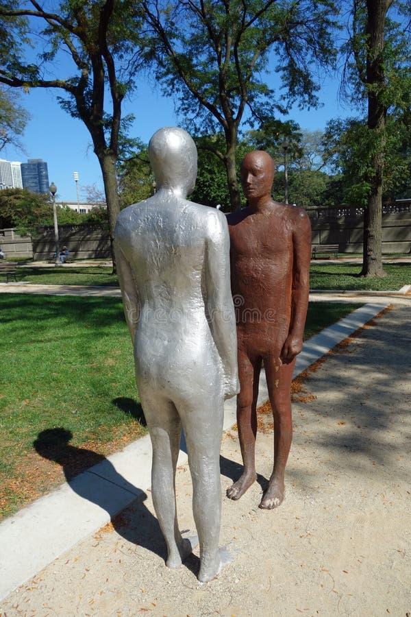 Frontières en Grant Park, Chicago du centre photos libres de droits
