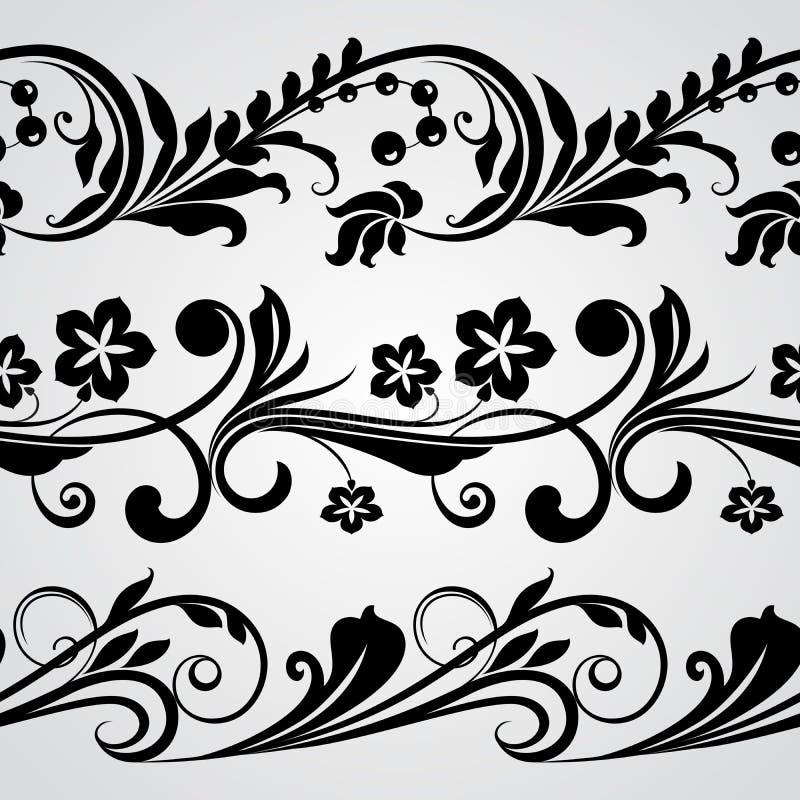 Frontières horizontales sans couture illustration de vecteur