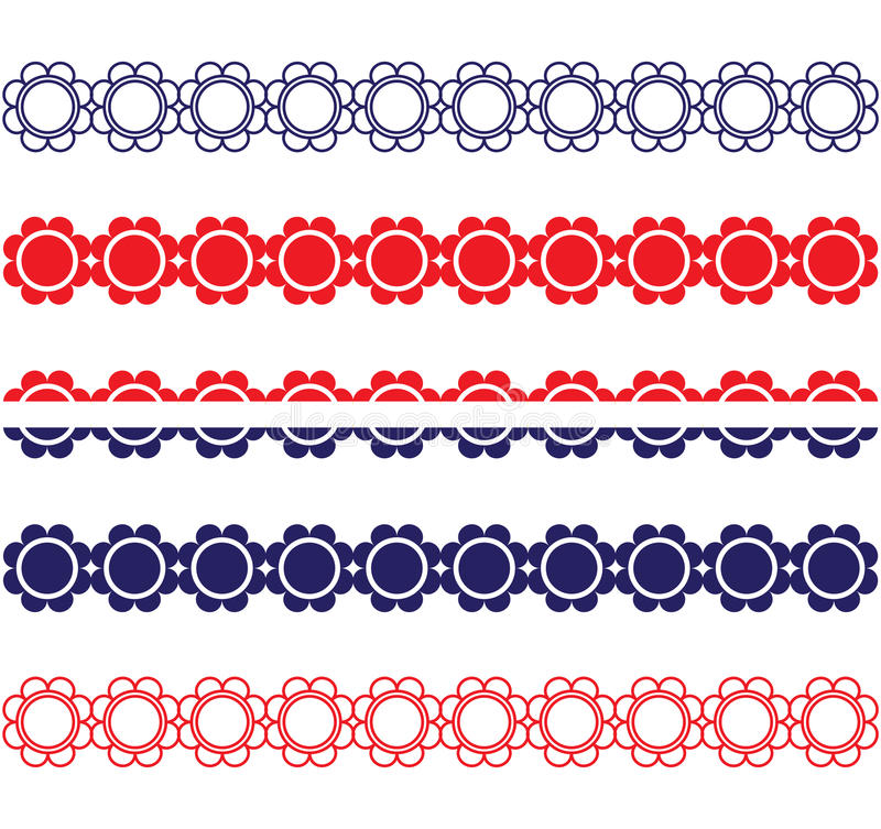 Frontières patriotiques de fleur illustration libre de droits