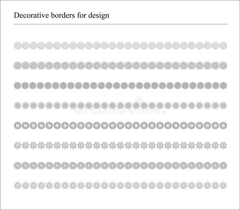 Frontières pour des bannières et ethnique décoratifs illustration de vecteur