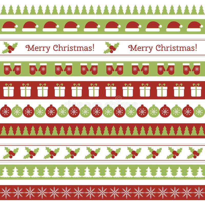 Frontières sans couture de Noël illustration libre de droits