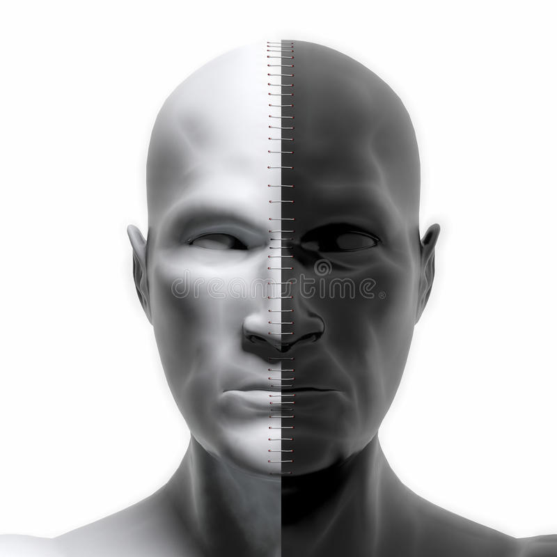 Fronti in bianco e nero combinati immagine stock