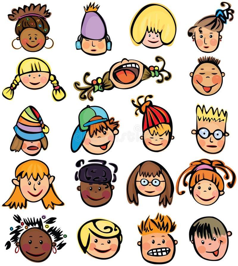 Fronti dei bambini. illustrazione di stock