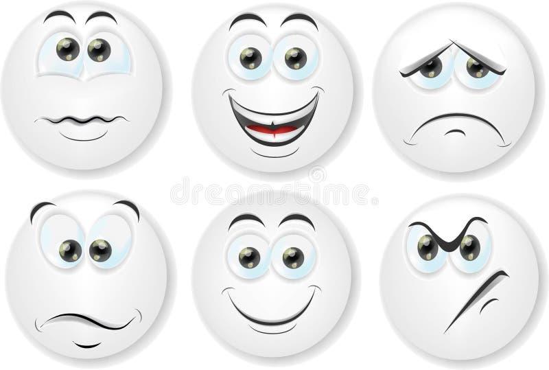 Fronti del fumetto con le emozioni illustrazione di stock