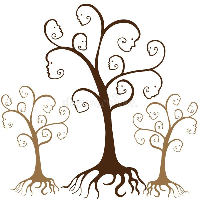 Fronti dell'albero di famiglia illustrazione vettoriale