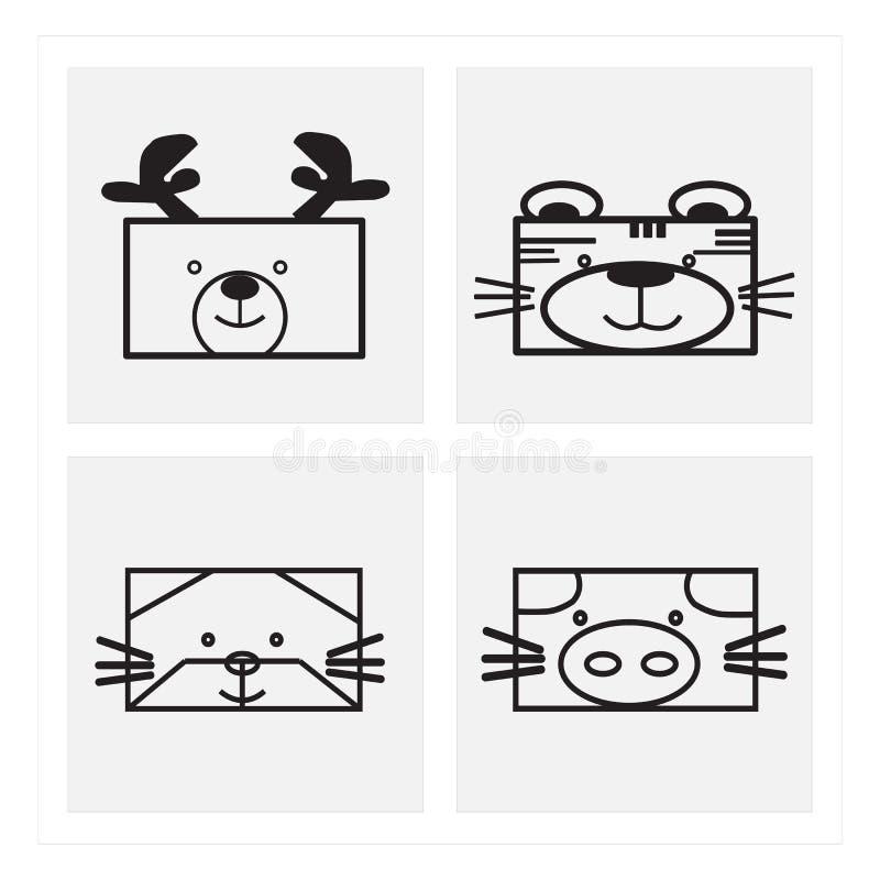 fronti dell'animale dell'icona immagine stock