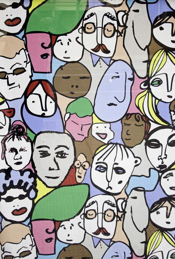 Fronti della gente royalty illustrazione gratis