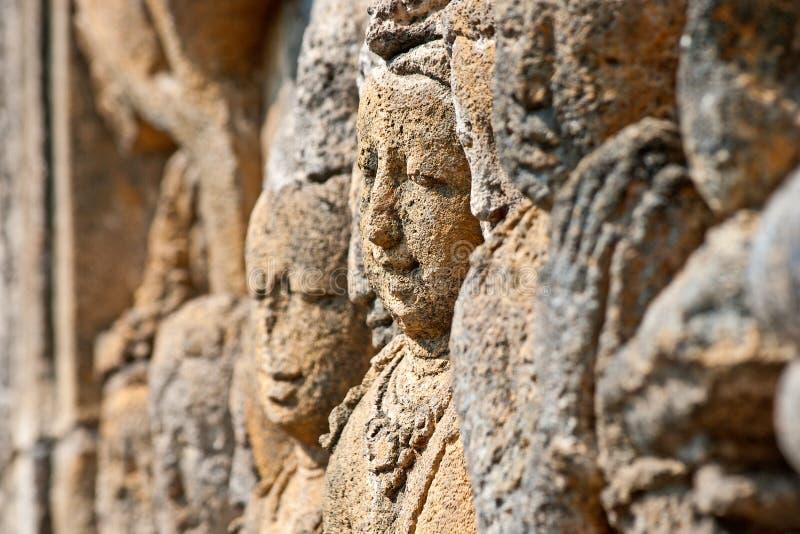Fronti di Borobudur fotografia stock libera da diritti