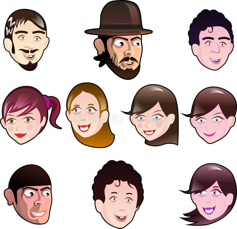 Fronti divertenti del fumetto royalty illustrazione gratis