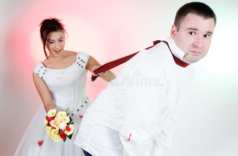 Download Fronti Divertenti Dello Sposo E Della Sposa Fotografia Stock - Immagine di corpo, luce: 7315508