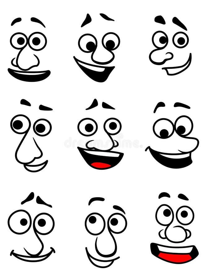 Fronti emozionali illustrazione di stock