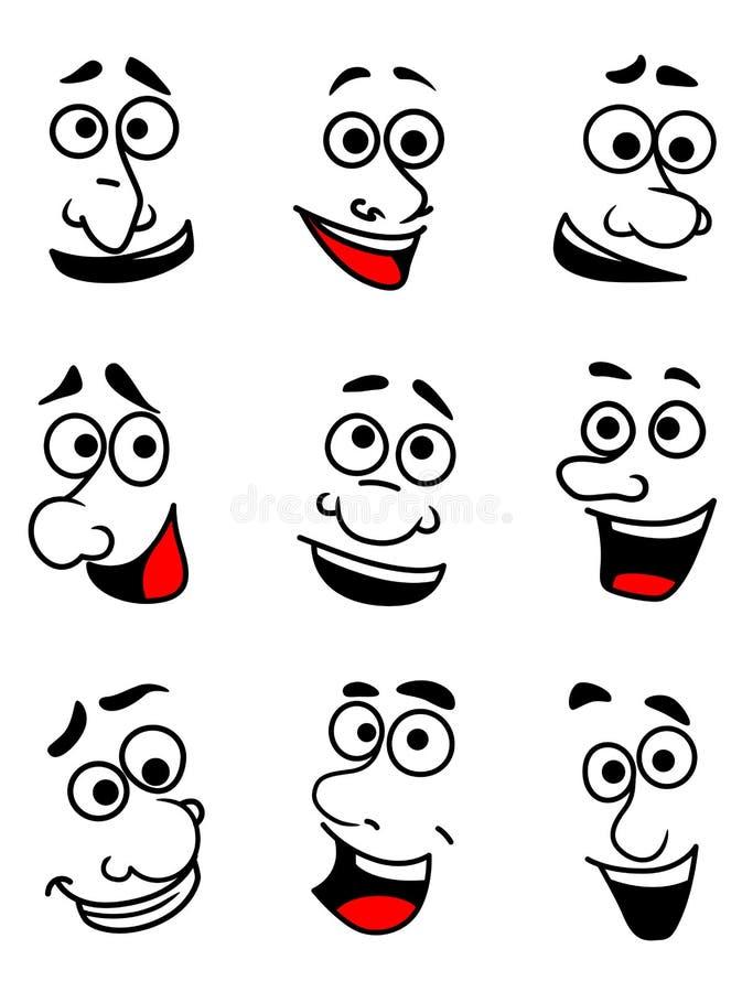 Fronti emozionali messi illustrazione di stock