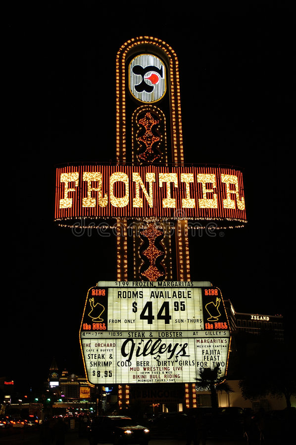 Frontier hotel sign royalty free stock photography
