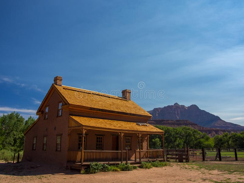 Frontier House, Desert Ghost Town, Grafton, Utah. A frontier house in ghost town of Grafton, Utah outside zion national park stock images
