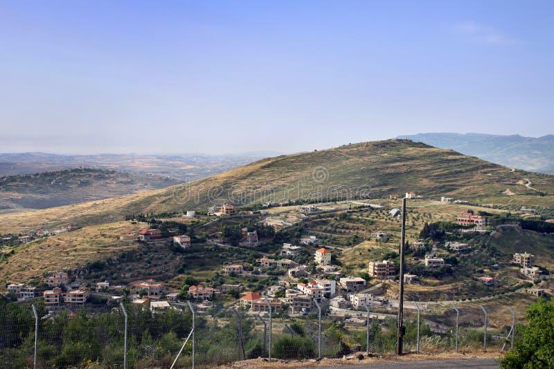 Frontiera di stato fra Israele ed il Libano immagine stock