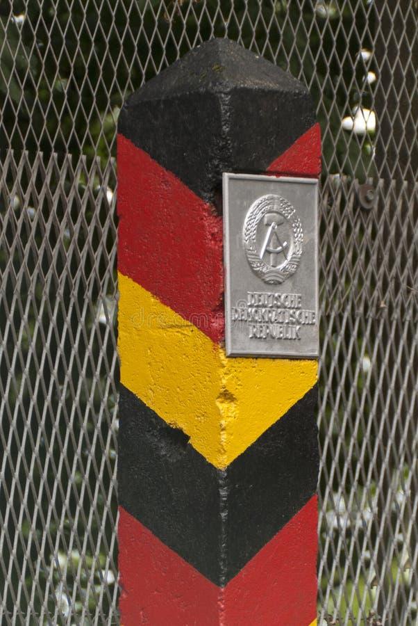 Frontiera-posta del GDR fotografia stock