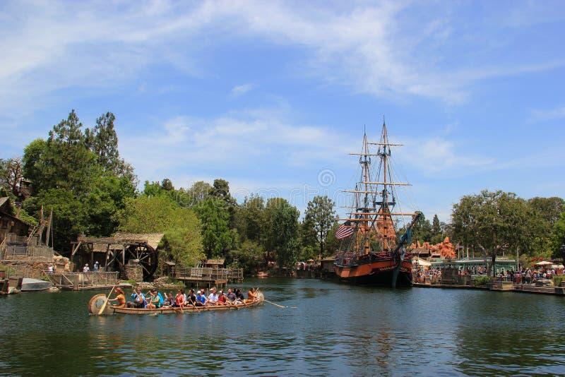 Frontierland på Disneyland arkivbilder