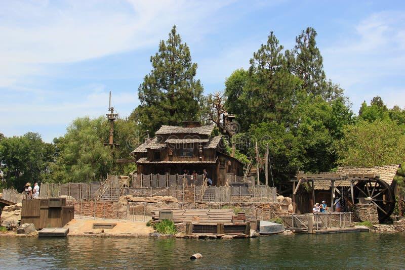 Frontierland på Disneyland royaltyfri foto