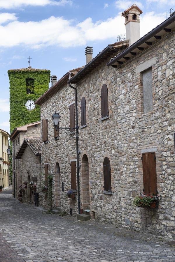 Frontino, stara wioska w Montefeltro Maszeruje, Włochy obraz royalty free