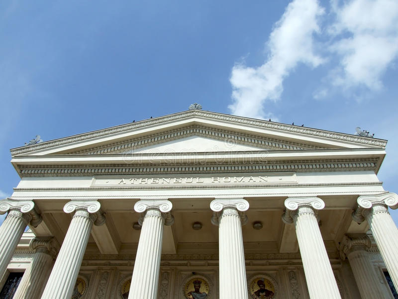 Fronton and columns stock images