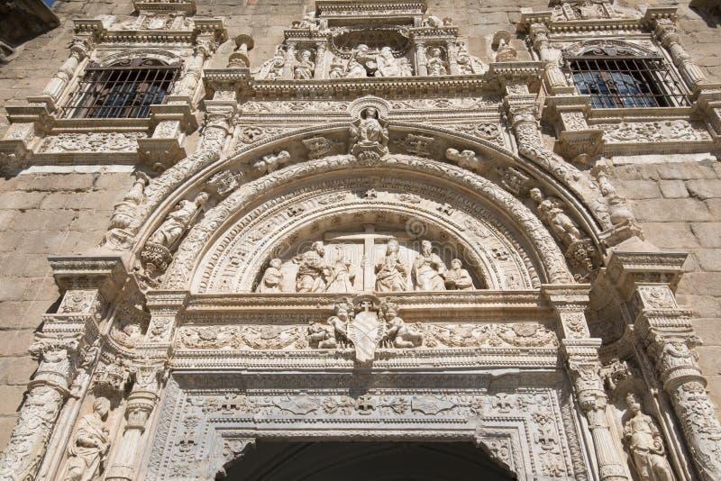 Fronton in oud Museum van Santa Cruz in Toledo royalty-vrije stock afbeelding