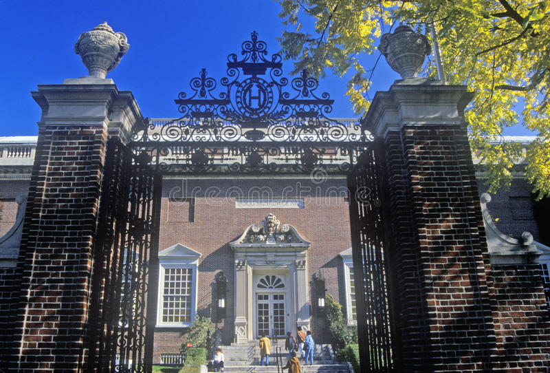 Frontowa brama Fogg muzeum sztuki, Cambridge, Massachusetts zdjęcie royalty free