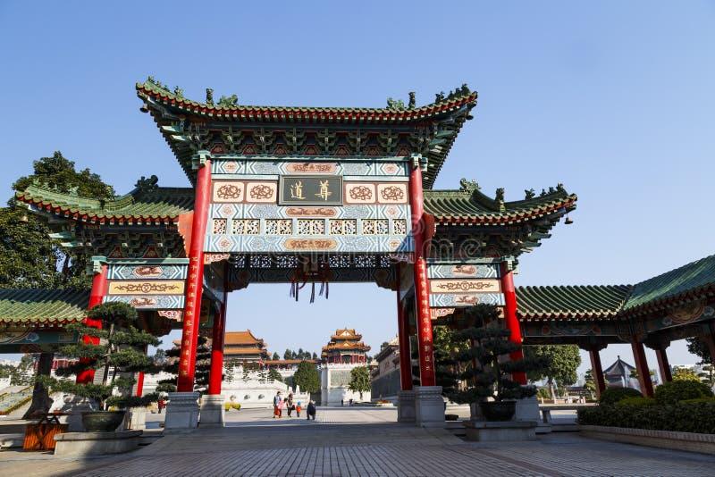Frontowa brama Yuanxuan Taoistyczny Świątynny Guangzhou, Chiny fotografia royalty free