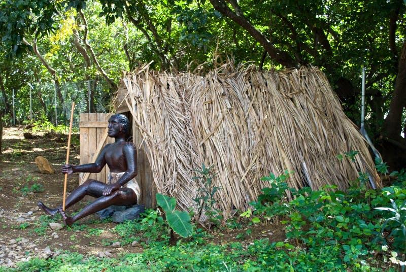 frontowa domowa obsiadania niewolnika słoma obraz royalty free
