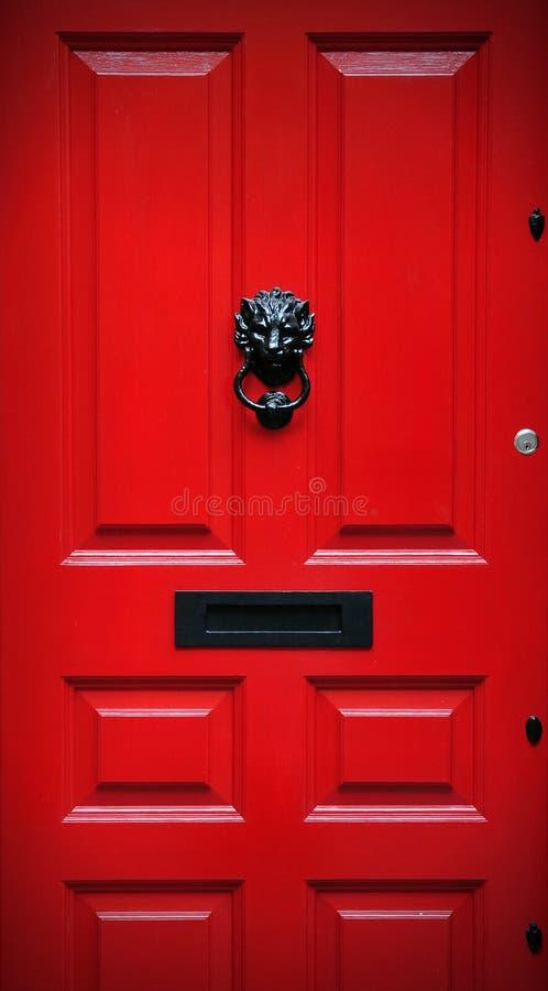 frontowa drzwi czerwień zdjęcie royalty free