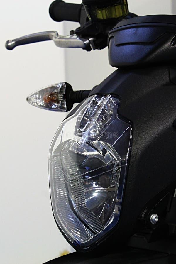 Frontowa maska z reflektorem nowożytny elektryczny motocykl Zero DS R obrazy royalty free