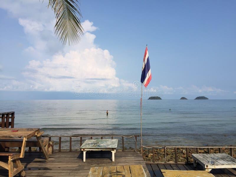Frontowa plaży strona fotografia stock