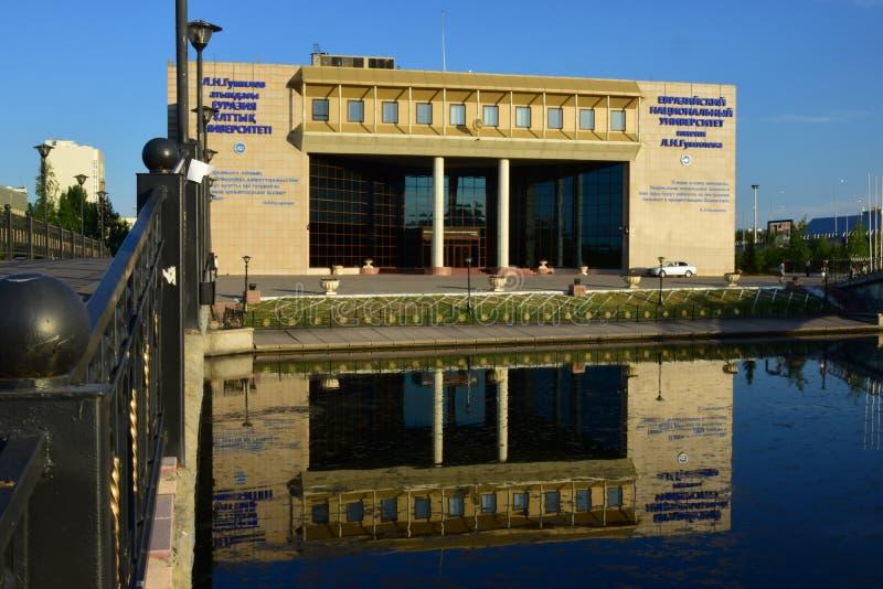 Frontowa strona Eurazjatycki uniwersytet zdjęcie stock