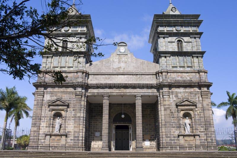Frontowego wejścia kościół Palmares w Costa Rica zdjęcie stock