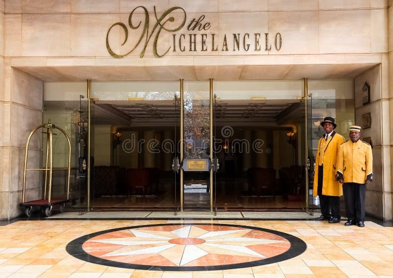 Frontowego wejścia powierzchowność 5 Gwiazdowy hotel zdjęcie royalty free