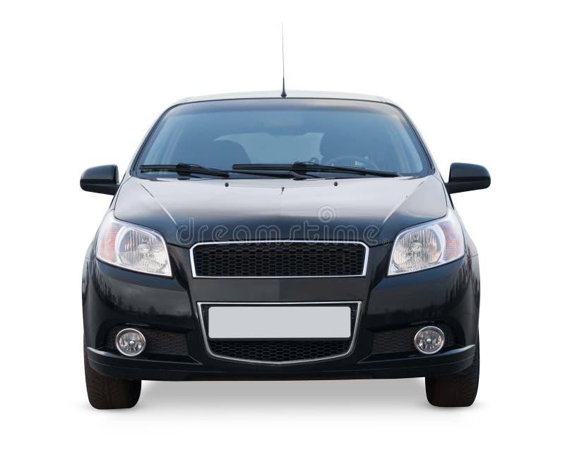Frontowego widoku samochód odizolowywający na białym tle obraz stock