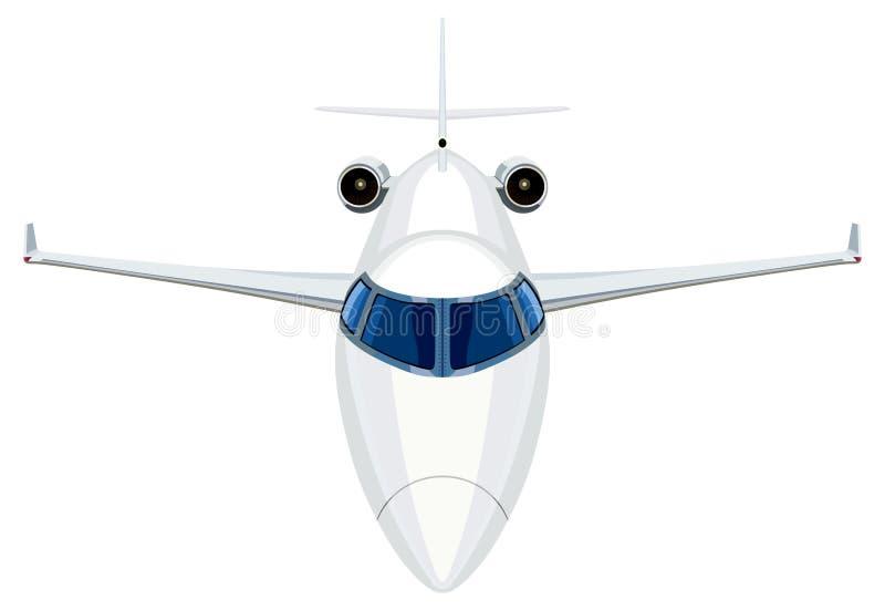 Frontowy dżetowy samolot royalty ilustracja