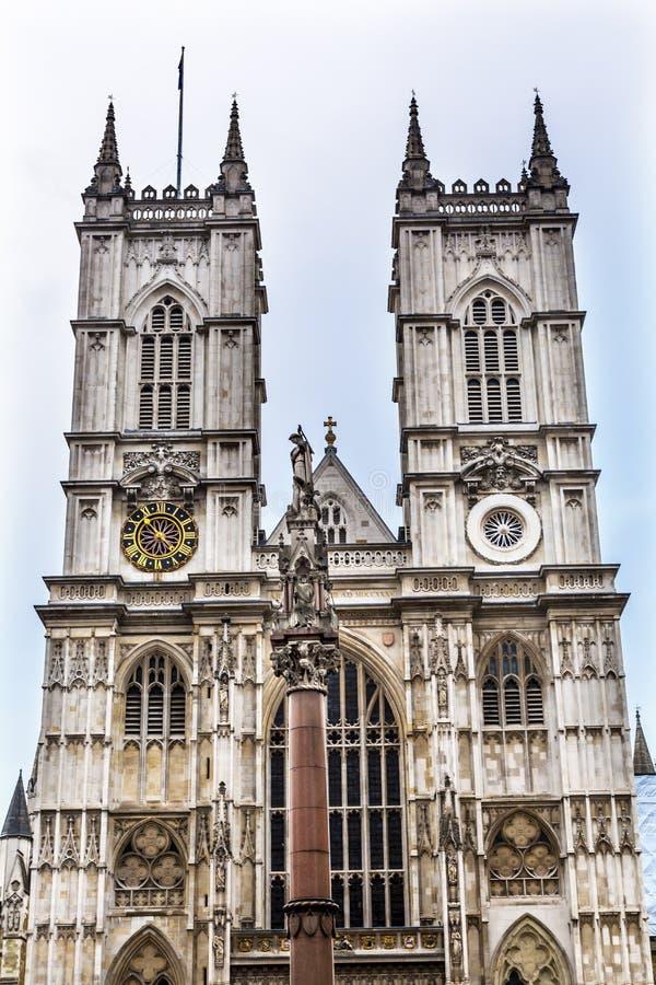 Frontowy Fasadowy opactwo abbey Londyn Anglia zdjęcie royalty free