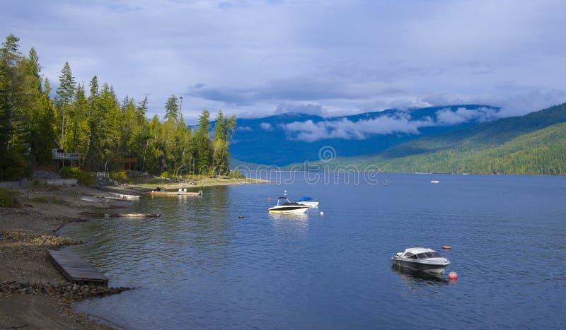 frontowy jeziorny majątkowy shuswap zdjęcie royalty free