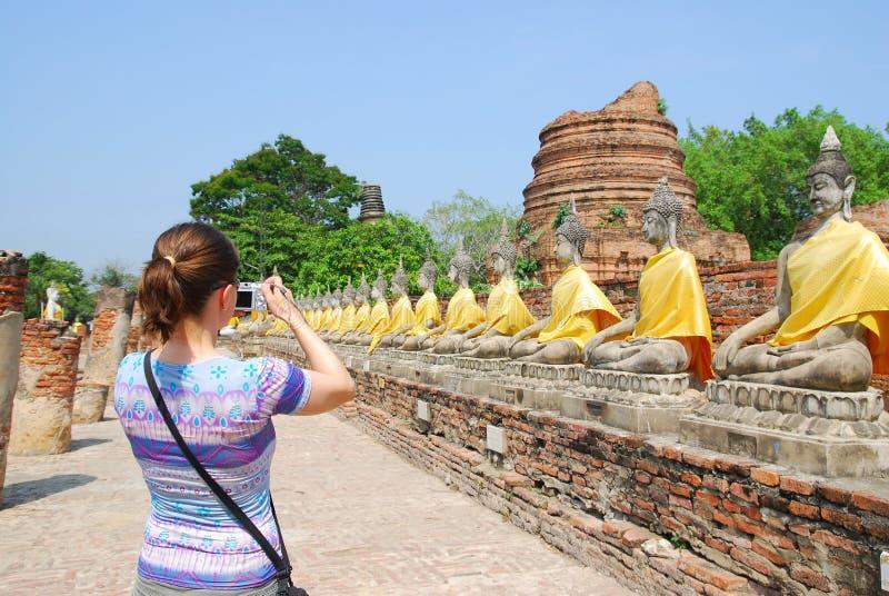 frontowy kamera turysta zdjęcie stock